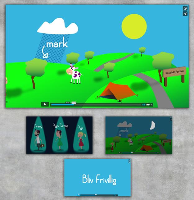 2D animation - Bliv frivillig på Roskilde Festivalen - Af Ideal Pixel