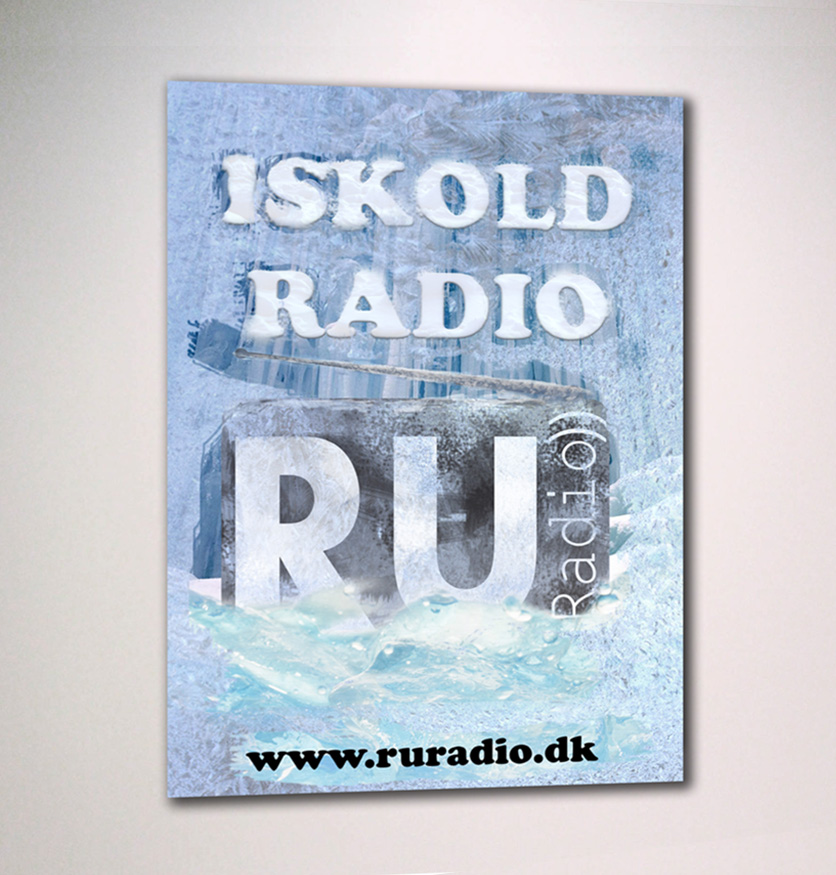 Is Kold Radio - Poster design for RU Radio, af Ideal Pixel