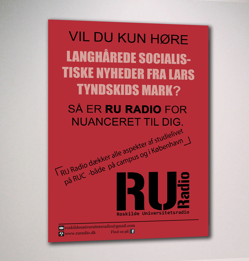 Vil du kun hører? - Poster design for RU Radio, af Ideal Pixel